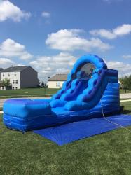 12' Blue Marble Water Slide