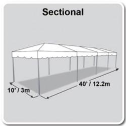 10' x 40' White Frame Tent