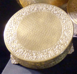 Cake Stand- Gold Plated 14