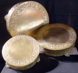 Gold Cake Stands all three 1602263658 - Cake Stand- Gold Plated 14""
