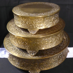 Gold Cake stands all three 2 1602264345 - Cake Stand- Gold Plated 16""