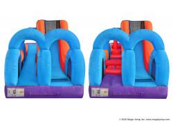U Slide and Splash Obstacle Course