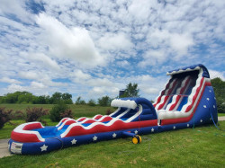 22ft Stars and Stripes Wet with Slip and Slide
