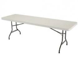 8' White Table
