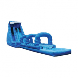 27' Blue Crush 2 Lane Water Slide