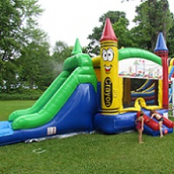 Crayon Combi with Water Slide