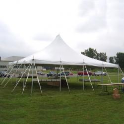 30x30 white pole tent