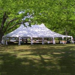 40x60 White Pole tent
