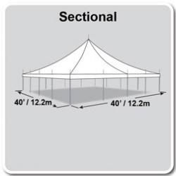 40x40 White Pole tent