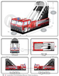 Big Red Fire Truck Slide 13w x 32l x 22h
