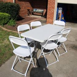 White Folding Table 4FT