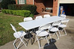 White Folding Table 8 FT