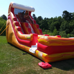 18 FT RED WAVES DRY SLIDE