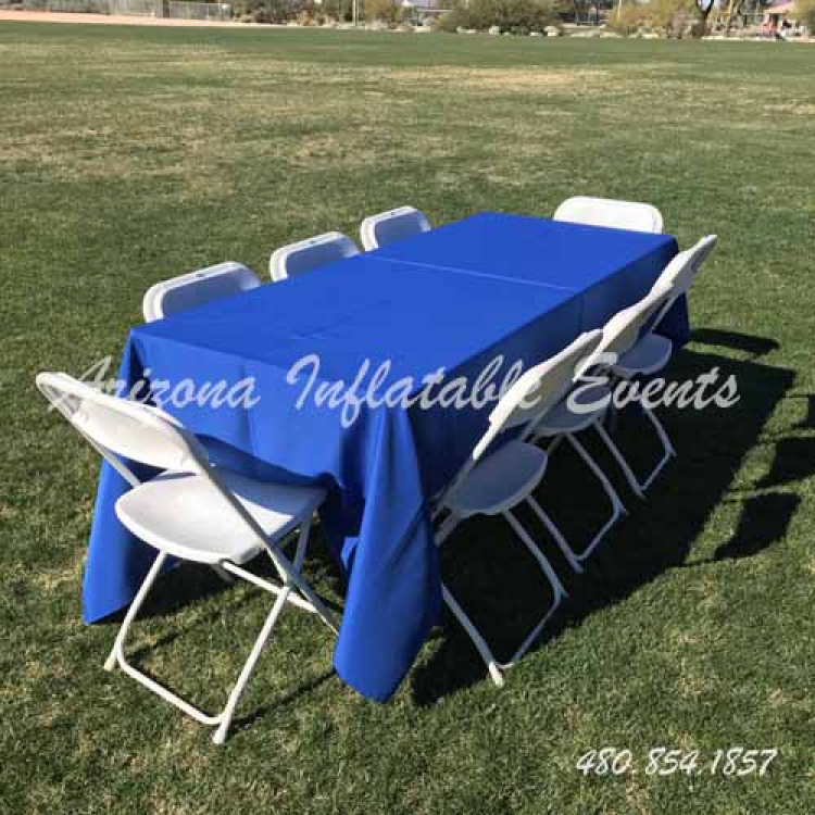 Banquet Table WPackage Arizona Inflatable Events - Inflatable picnic table