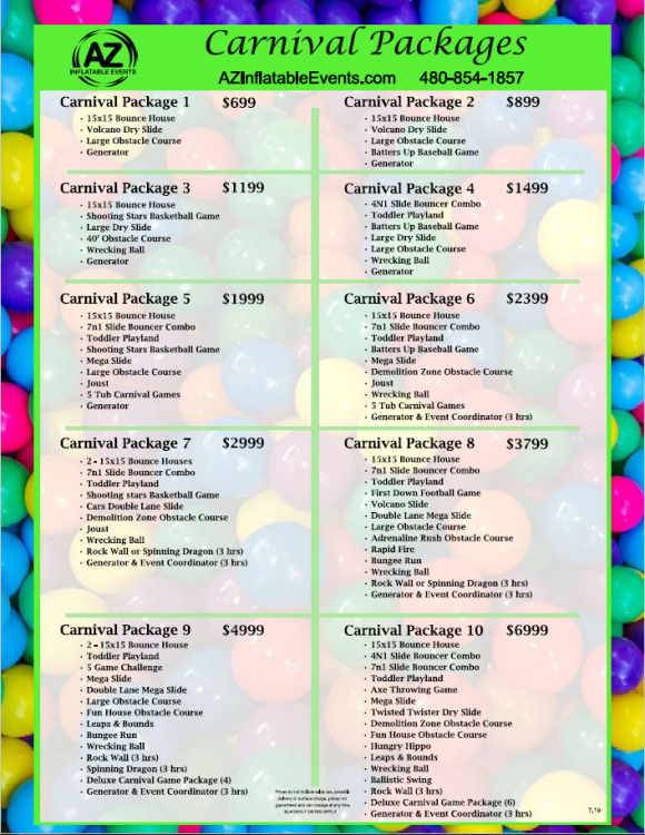 Carnival Package 1 - Arizona Inflatable Events