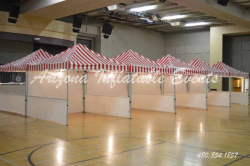 Carnival Tent (Red/White) 10x10 w/ walls