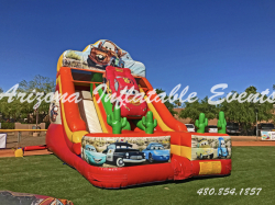 Cars Double Lane Slide 22' Tall