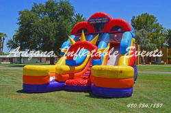 Jr. Double Down Dry Slide 16' Tall