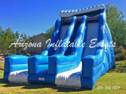 Double Pipeline Dry Slide 27' Tall