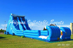 Double Pipeline Water Slide 27' Tall