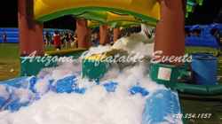 Foam Machine Added Inflatable Slide