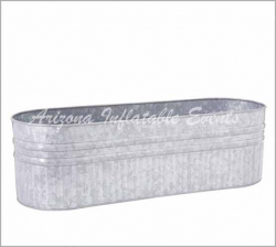 Galvanized Beverage Trough 1 foot