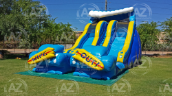 Double Wipeout Water Slide 22' Tall