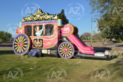 Princess Carriage Slide Bouncer Combo