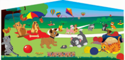 Puppy and Kitty Fun Banner