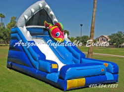 Shark Escape Dry Slide 15' Tall