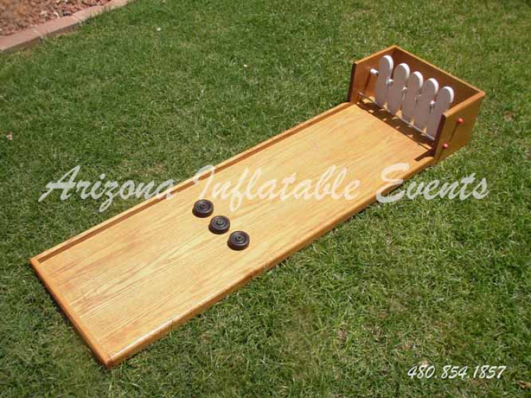 Shuffle Board Bowling Carnival Game - Arizona Inflatable Events