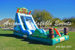 Tiki Falls Water Slide 18' Tall