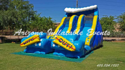 Double Wipe Out Dry Slide 22' Tall