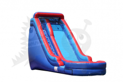 18' Red and Blue Wet Slide