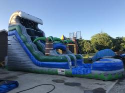 18 ft Tropical Oasis Slide - Wet
