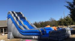 20 ft Grey Crush Slide w/ pool - Wet
