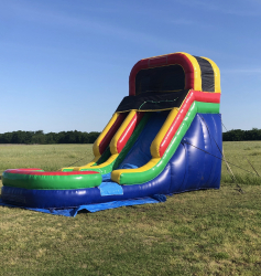 16 ft Rainbow Slide with Pool - Dry
