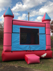 Castle Bounce House - Pink/Blue