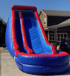 18' Red and Blue Dry Slide