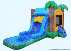 Tropical Breeze Bounce House / Slide Combo (Young Children -