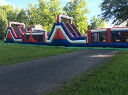 Red, White and Blue Obstacle Course 100ft: WET