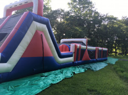 Red, White and Blue Obstacle Course 75ft: WET