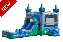 Green Emerald Bounce House Slide Combo