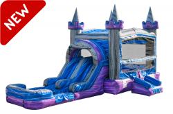 Purple Crush Bounce House Slide Combo