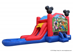 Mickey Mouse Water Slide Bounce House Combo