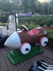 Barney Rubble Roadster Kiddie Ride - $295