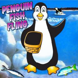 Penguin Fish Fling Frame Game