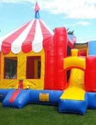 Circus Tent Slide Combo Unit