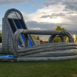The Tornado Dual Drop Slide with Banked Curve