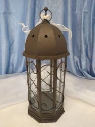 Brown Estate Scroll Lantern